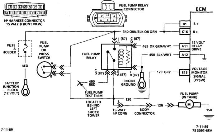 Bomba y relevador de combustible Chevrolet Celebrity