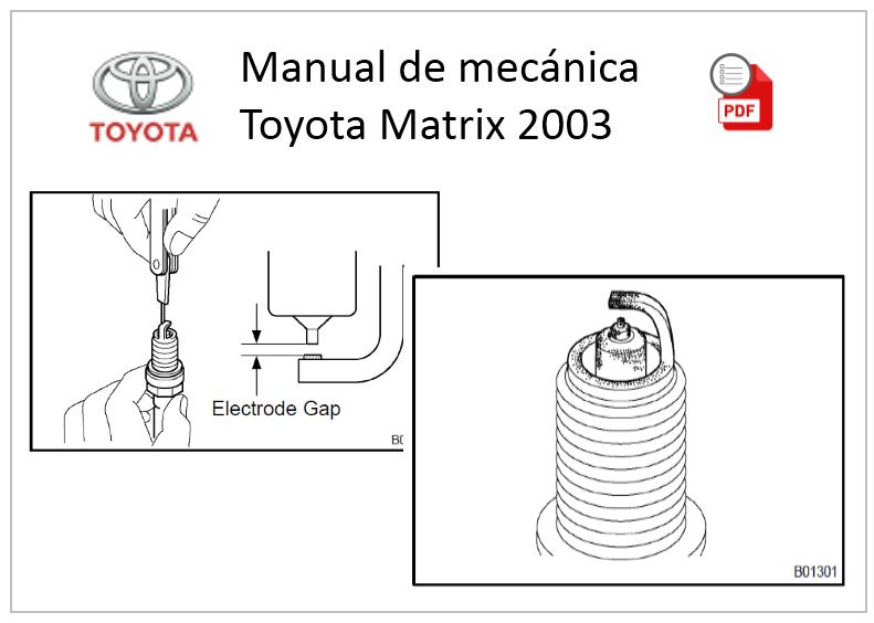 manual de usuario toyota matrix 2003
