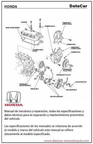 Descarga Gratis el manual de taller Honda Accord 2000 2.3L