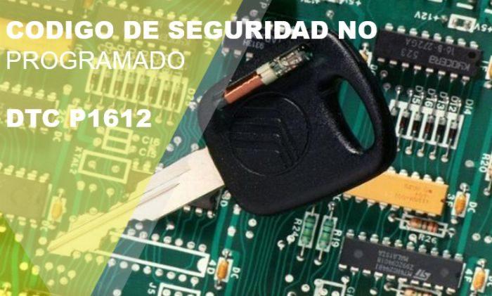 Código de falla P1612